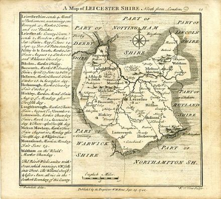 Leicestershire Badeslade 1742